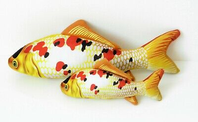 SMALL FISH SHAPED CATNIP PILLOW KICKER SOFT TOY for PET KITTEN CAT, Sealed Pack