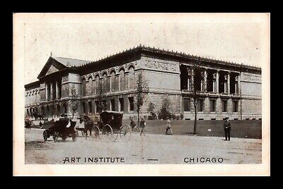 Dr Jim Stamps Us Art Institute Chicago Illinois Exterior View Postcard