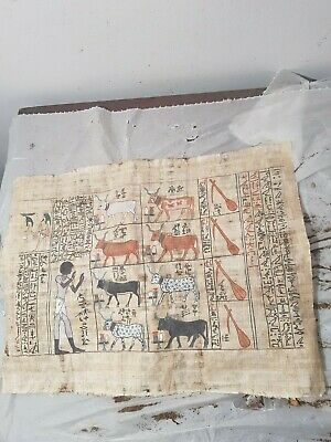Rare Antique Ancient Egyptian God Hathor ( 8 Cows)King love Joy happy1391–1353BC
