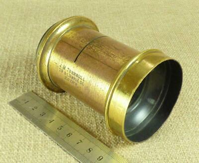 ANTIQUE BRASS CAMERA LENS with Waterhouse Slot - J.M.TURNBULL, EDINBURGH