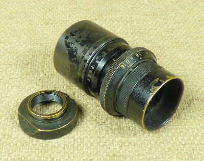 DALLMEYER 'POPULAR' BRASS CINE LENS - D mount - F=1½ inches, f/4