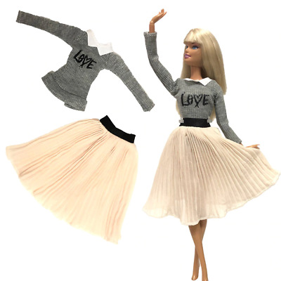 new barbie die toys fashion clothes handmade doll dress casual outfit wear