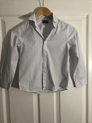 Boys Next Signature Long Sleeve Stripe Blue Shirt Age 7 Years Immaculate