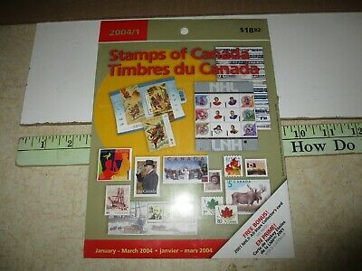 Canada Collectors Stamps Mint Package January- March 2004  unopened 18 Stamps