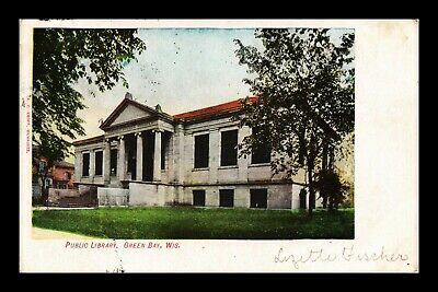 Dr Jim Stamps Us Public Library Green Bay Wisconsin Exterior View Postcard