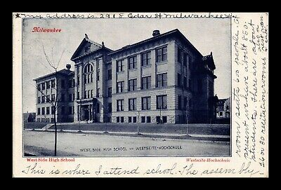 Dr Jim Stamps Us West Side High School Milwaukee Wisconsin View Postcard