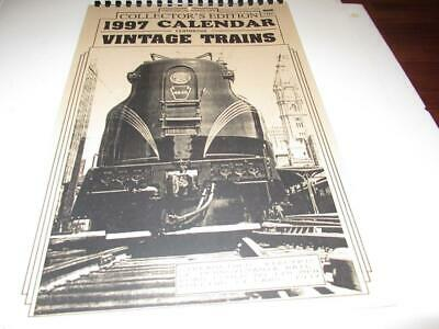 Historical Hang-Ups - 1997 Calendar Featuring Vintage Trains-  Exc- M6