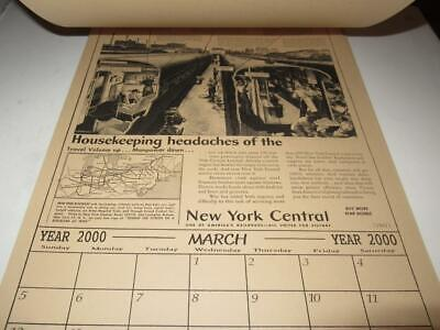 Historical Hang-Ups - Year 2000  Calendar Featuring Vintage Trains-  Exc- M6