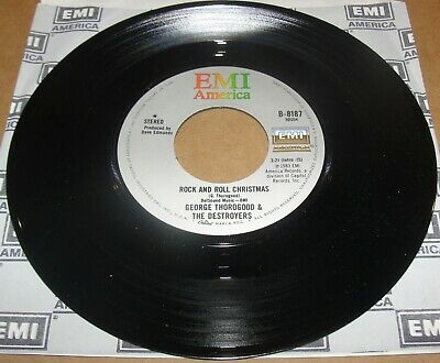 """GEORGE THOROGOOD & THE DESTROYERS Rock and Roll Christmas 7"""" Vinyl 45"""