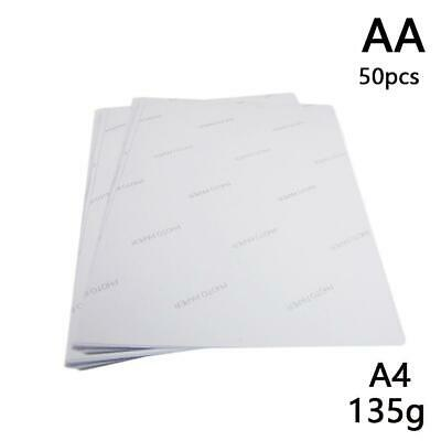 A4 A6 White Glossy Self Adhesive Sticker Photographic Printer Paper Photo E1Q2