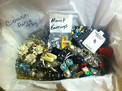 Vintage To Now Estate Find Jewelry Lot Junk Drawer Unsearched Untested Wear #212