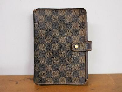 Authentic Louis Vuitton Damier Ebene Agenda Mm Day Planners Cover Monogram