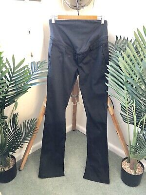Womens Size 36 (8) MATERNITY PANTS Black TROUSERS Baby WORK OFFICE Ladies
