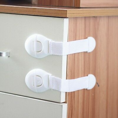 10 x Child Infant Baby Drawer Door Cabinet Protect Cupboard Toddler Safety Lock