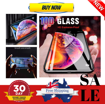 10D Full Cover Tempered Glass - iPhone 6S 7 8 Plus  XR XS Max Screen Glass Film