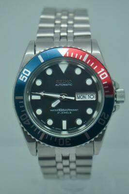 Customised Seiko Automatic Divers Watch SKX031 Brand New NH36 Movement Fitted