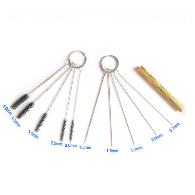 11 pcs Airbrush Spray Cleaning Repair Tool Kit Stainless steel Needle Brush Sets