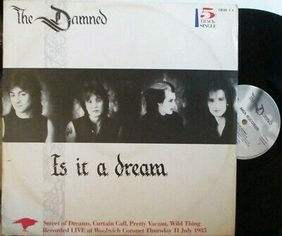 "THE DAMNED ~ Is It A Dream ~ 5 TRACK 12"" Single PS"