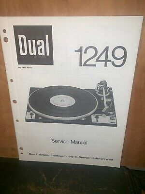 DUAL 1249 TURNTABLE SERVICE MANUAL 20 Pages