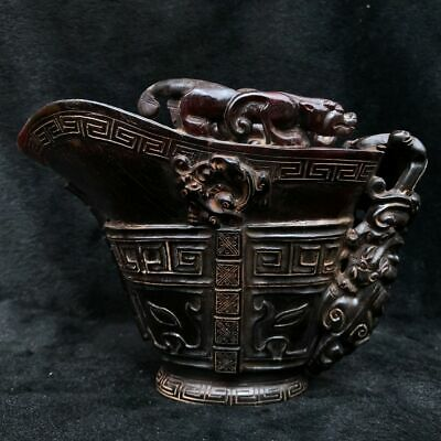 Chinese folk exquisite collection of fine (cow horn cup)   ZBZ  008