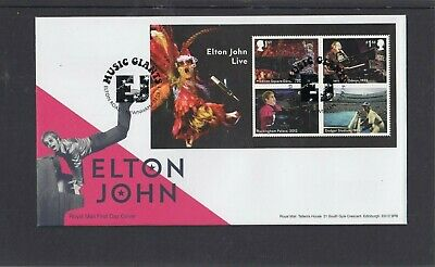 GB 2019 Elton John MS Royal Mail FDC First Day Cover Elton Rd Newnham special pk