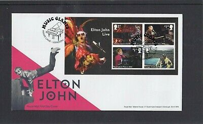 GB 2019 Elton John MS Royal Mail FDC First Day Cover Piano Lane London special p