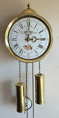 Jewellers Wall Clock 8 Day Comtoise Style Hermle Bell Strike Dutch Pendules