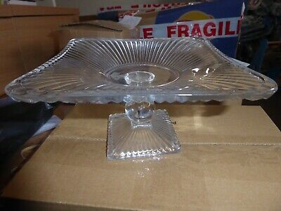 Gorgeous glass cake stand plate