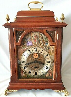 Christiaan Huygens Clock Automated Triple Chime Penny Moon Dial Paperwork