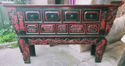 19th century antique chinese altar table.