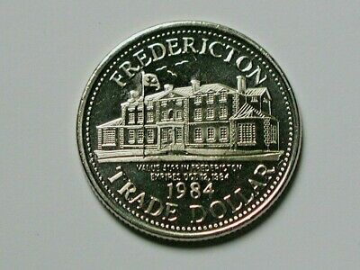 Fredericton NB CANADA 1984 Trade DOLLAR Token with Historic Government House