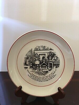 "James Kent Staffordshire England Old Foley Decorative Plate "" Wise Saying"""