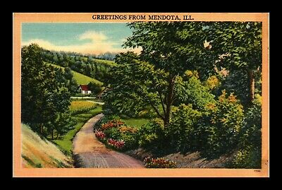 Dr Jim Stamps Us Greetings From Mendota Illinois Linen View Postcard
