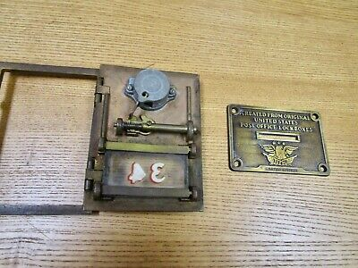 Vintage Brass Postal Mail Box Door With Slot Badge