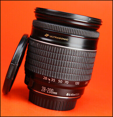 Canon EF 28-200mm F3.5-5.6 USM AF Zoom Lens  With Front & Rear Caps,
