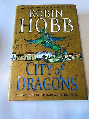 City Of Dragons Robin Hobb Signed 2x Hardcover First Edition 1st Printing