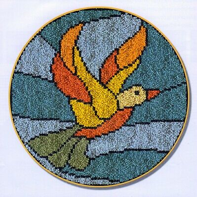 BIRD WINDOW LATCH HOOK RUG KIT, NEW DESIGN and UK Seller