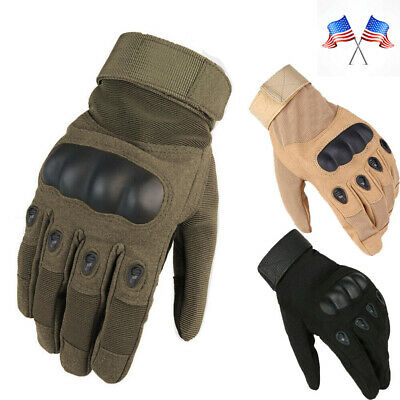 Army-Military-Combat-Hunting-Shooting Tactical Hard Knuckle Full Finger Gloves