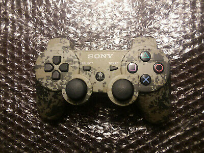 PS3 Official Sony Playstation 3 Camo Wireless DualShock 3 Controller - Excellent