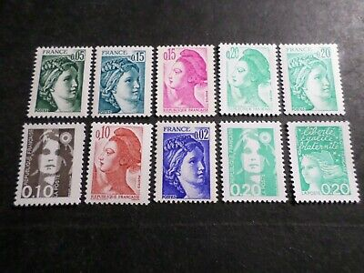 FRANCE, LOT  timbres MARIANNE SABINE LIBERTE' neufs** LUXE, MNH STAMPS