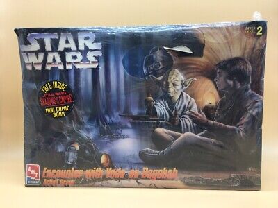 1995 Star Wars Amt Model Kit Encounter With Yoda Sellado Cellophane New Nuevo !