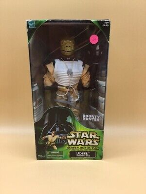 "Star Wars 2000 Bossk Bounty Hunter 12"" Power Hasbro Action Collection In  Box!"