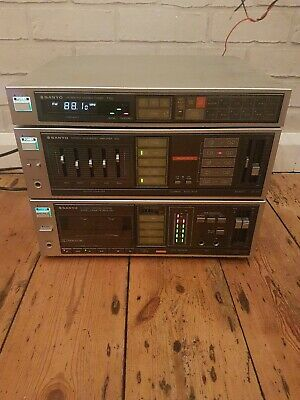 Retro Sanyo A50 AMPLIFIER T50 TUNER D50 TAPE DECK HIFI STEREO