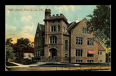 Dr Jim Stamps Us Public Library Fond Du Lac Wisconsin Exterior View Postcard