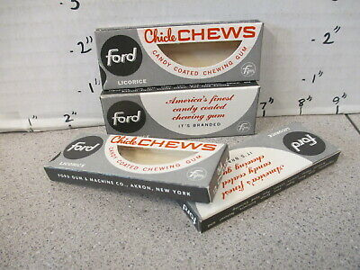 FORD chewing gum 1950s (1) candy box vending machine Chiclets LICORICE black