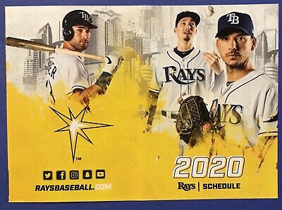 2020 Tampa Bay Rays Baseball Schedule ⚾️ VERY COOL SKED ⚾️