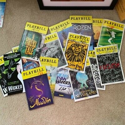 "5 Randomly Selected (""Blind"") AUTOGRAPHED/Signed Broadway Playbill lot!"
