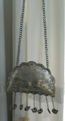 Vintage  Exotic Chinese Handmade Miao Silver Necklace