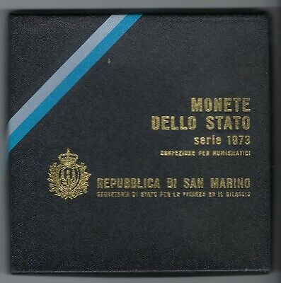 San Marino  1973 Series Of Proof Coins In Box