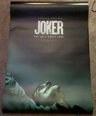 "JOKER 2019 Advance Teaser DS 2 Sided 27x40"" US Movie Poster Joaquin Phoenix"